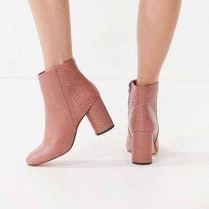 uo snakeskin boots vegan leather